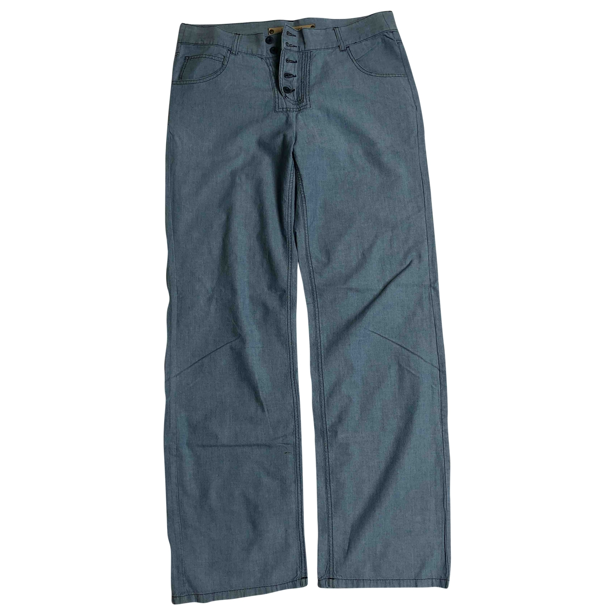 See By Chloé \N Blue Cotton Trousers for Women XL International