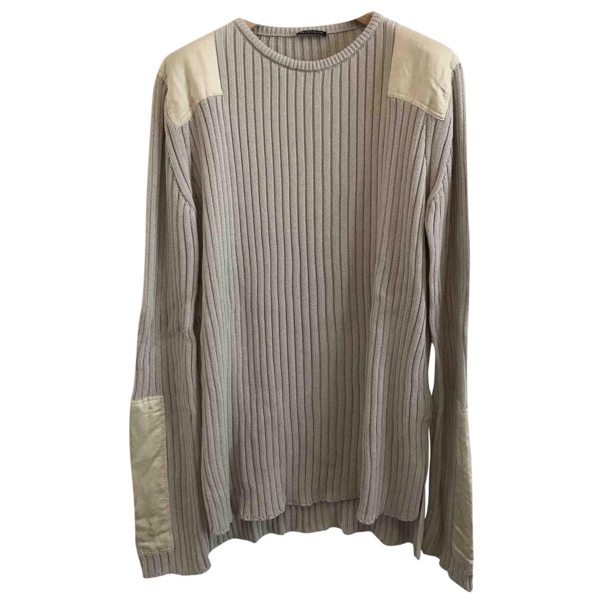 Ann Demeulemeester \N Pullover.Westen.Sweatshirts  in  Ecru Baumwolle