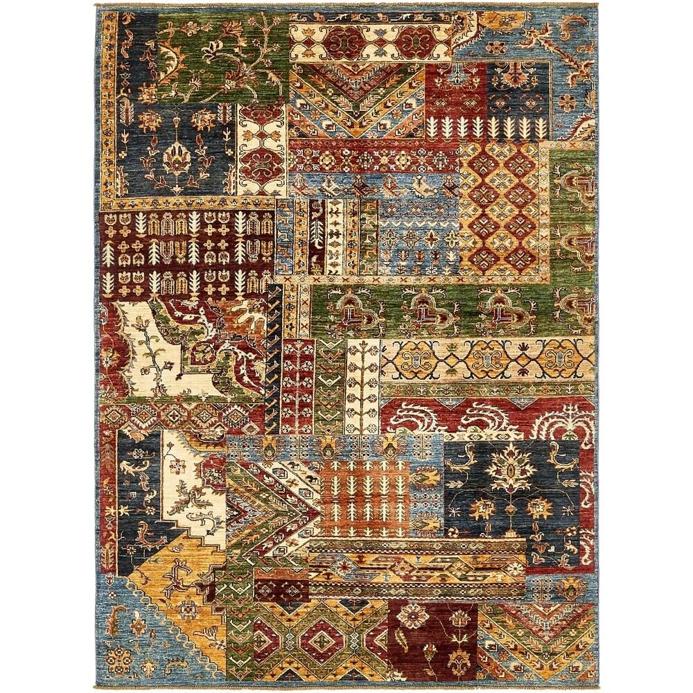Hand Knotted Ariana Ziegler Wool Area Rug - 5' 9 x 8' - 5' 9 x 8' (Multi - 5' 9 x 8')