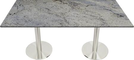 G208 30X42-SS14-17D 30x42 Kashmir White Granite Tabletop with 17