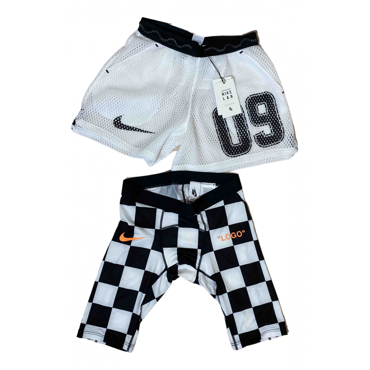 Nike X Off-white \N Shorts in  Weiss Polyester
