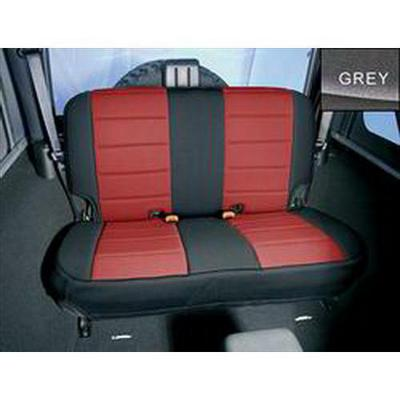 Rugged Ridge Custom Fit Neoprene Rear Seat Cover (Black/Gray) - 13262.09