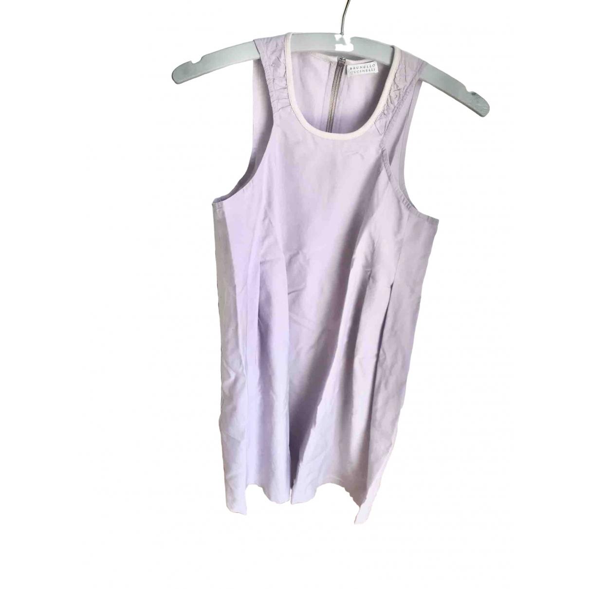 Brunello Cucinelli \N Purple Cotton dress for Women 40 IT