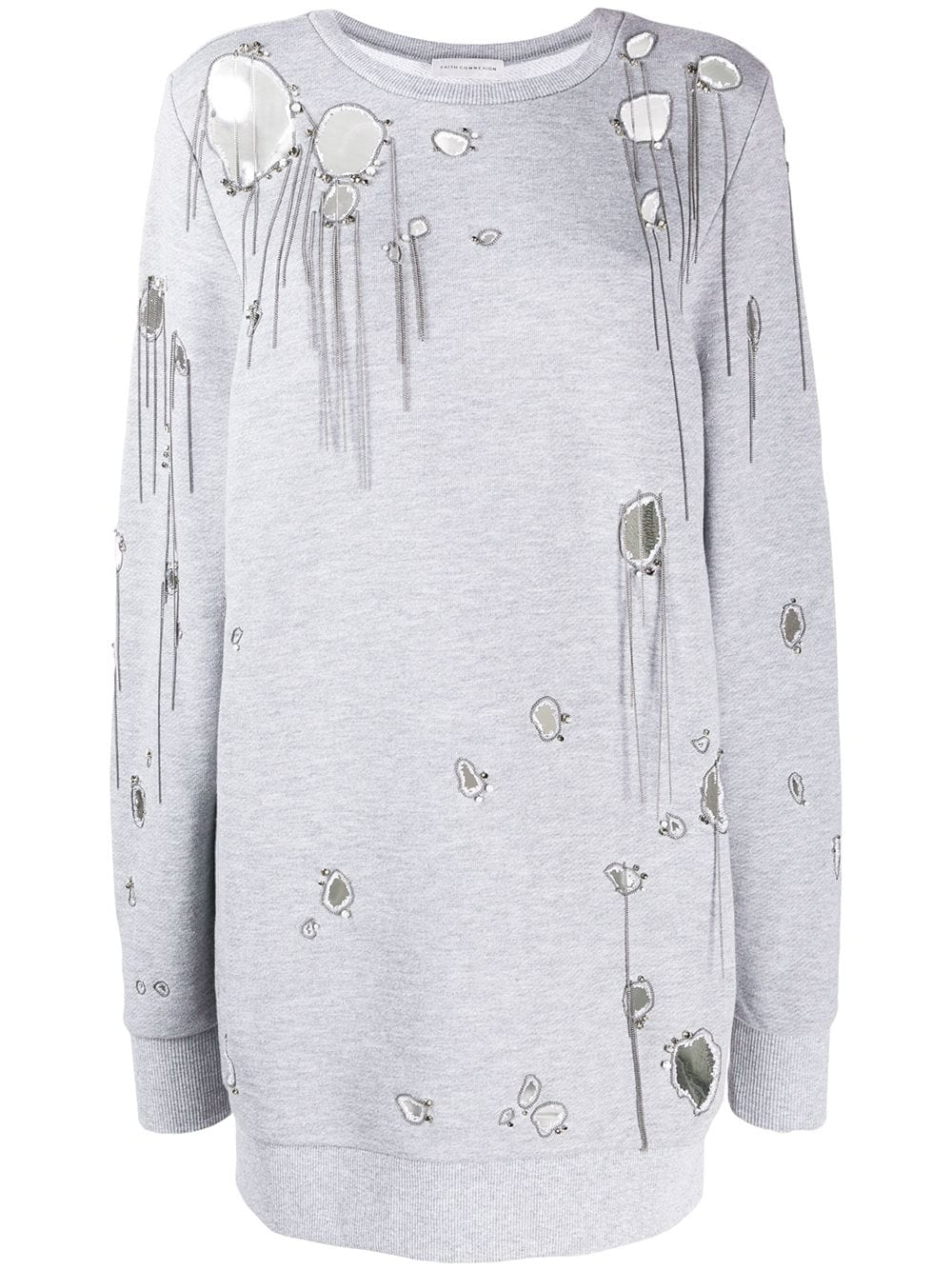 Long Ripped Sweatshirt