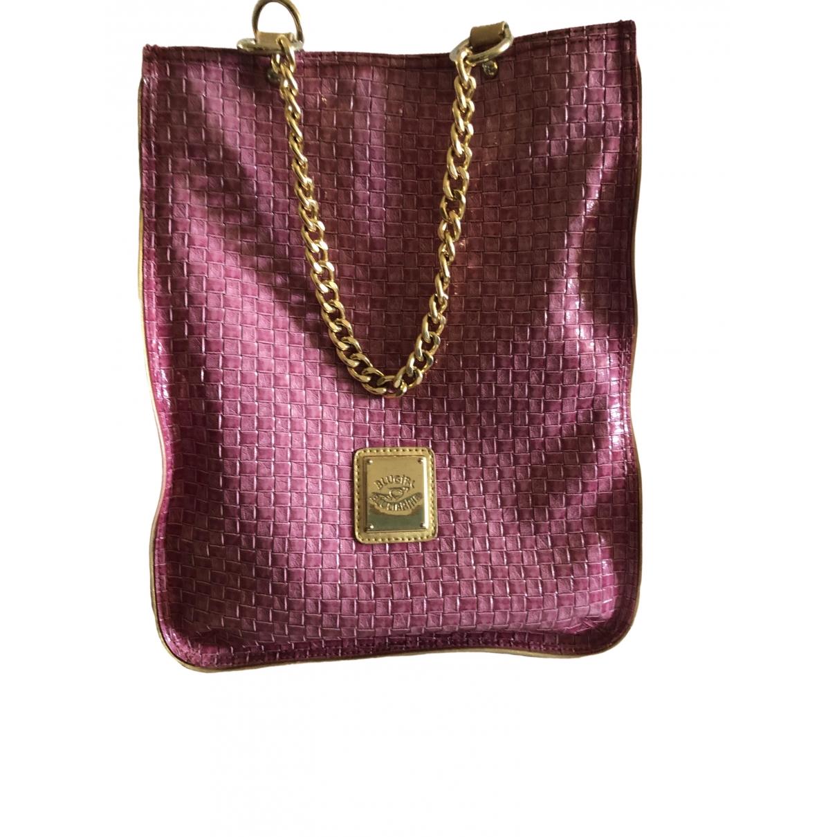 Blumarine - Sac a main   pour femme en cuir - rose