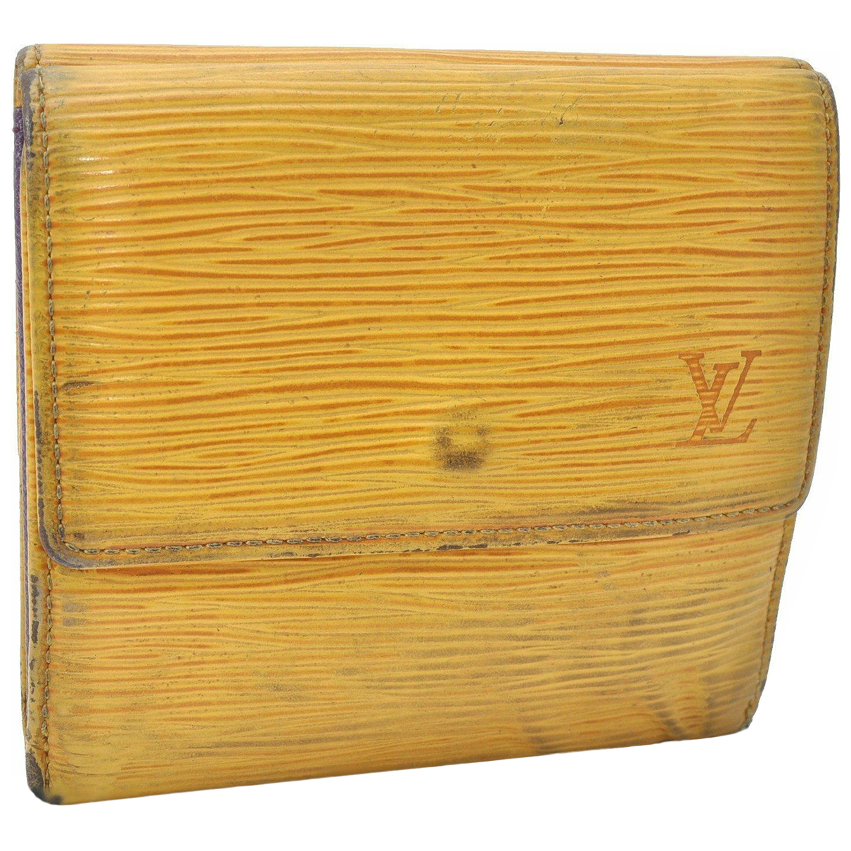 Louis Vuitton \N Portemonnaie in  Gelb Leder