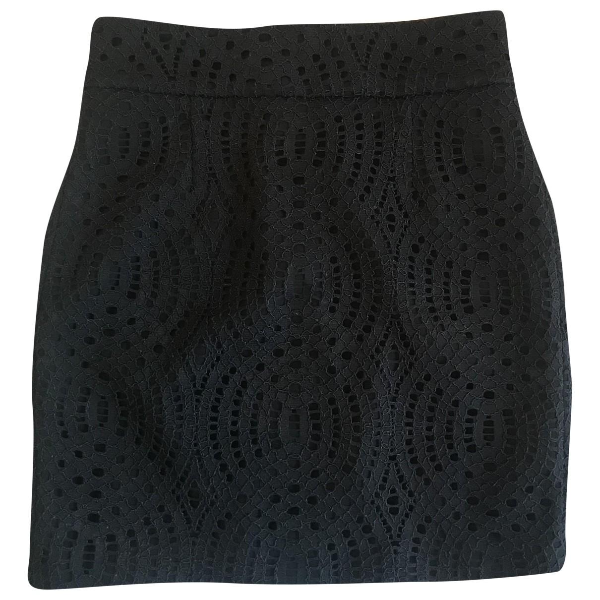 Maje - Jupe   pour femme en coton - noir