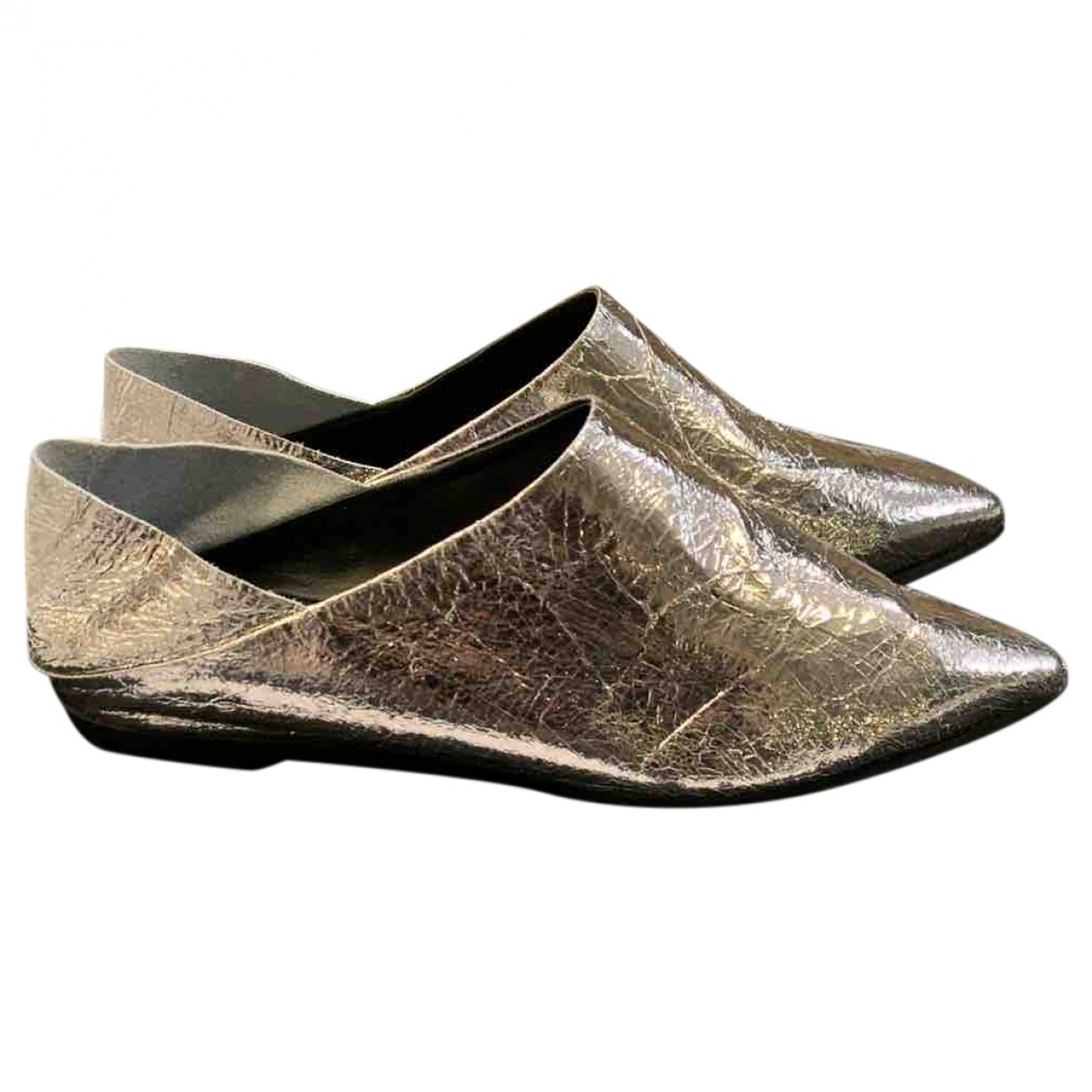 Mcq \N Silver Leather Ballet flats for Women 36 EU