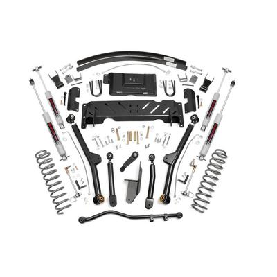 Rough Country 4.5 Jeep Long Arm Suspension Lift Kit with N3 Shocks - 61622