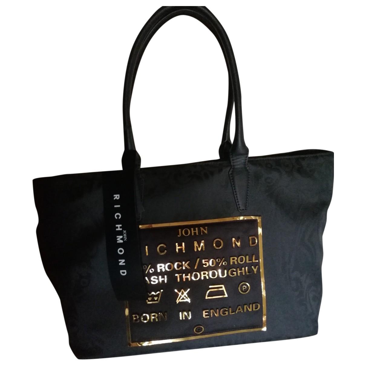John Richmond \N Handtasche in  Schwarz Leinen