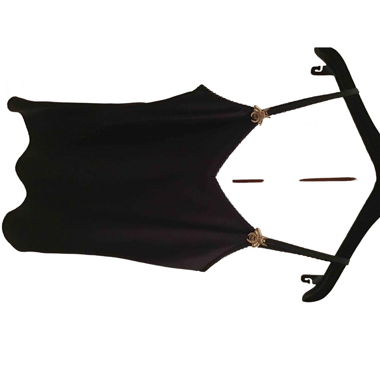 Gucci - Top   pour femme en soie - noir