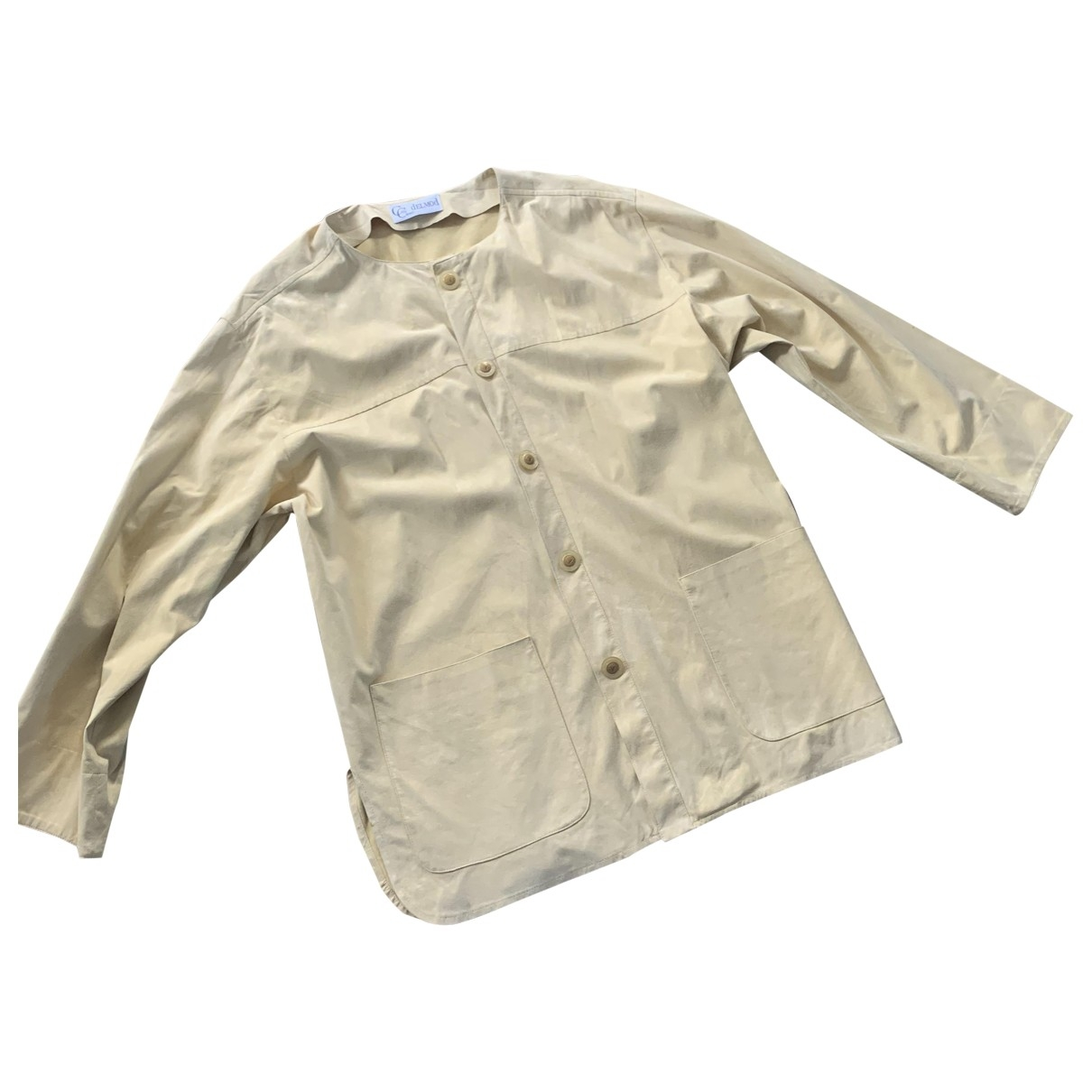 Non Signé / Unsigned \N Beige jacket for Women 44 FR