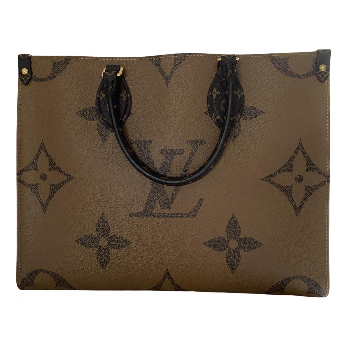 Louis Vuitton - Sac a main Onthego pour femme en toile - marron
