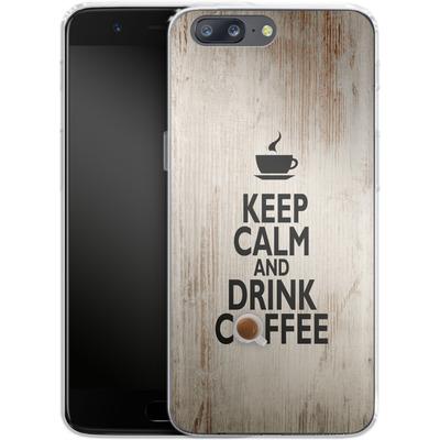 OnePlus 5 Silikon Handyhuelle - Drink Coffee von caseable Designs