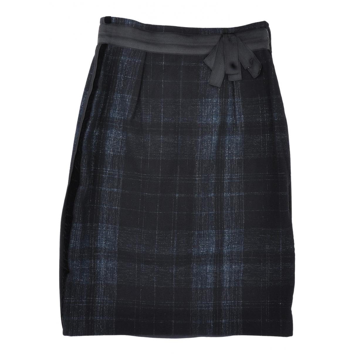 Alberta Ferretti N Black Wool skirt for Women 42 IT