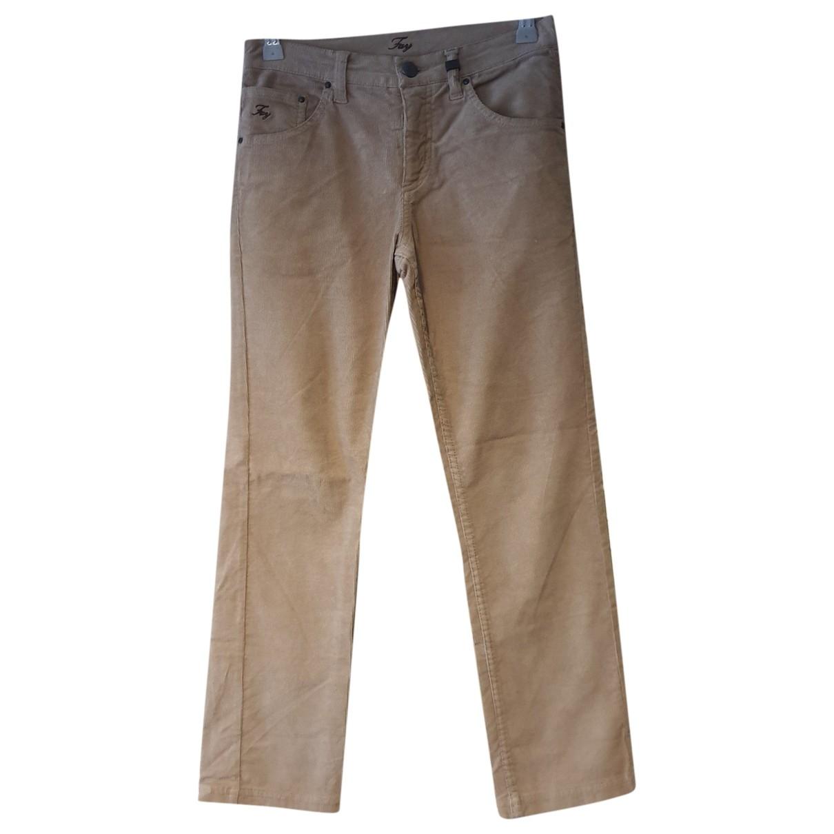 Fay - Pantalon   pour enfant en velours - beige