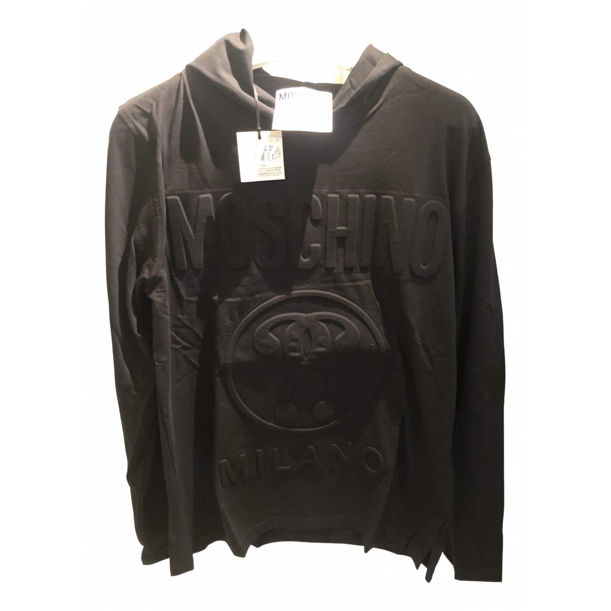 Moschino N Black Cotton Knitwear & Sweatshirts for Men 48 IT