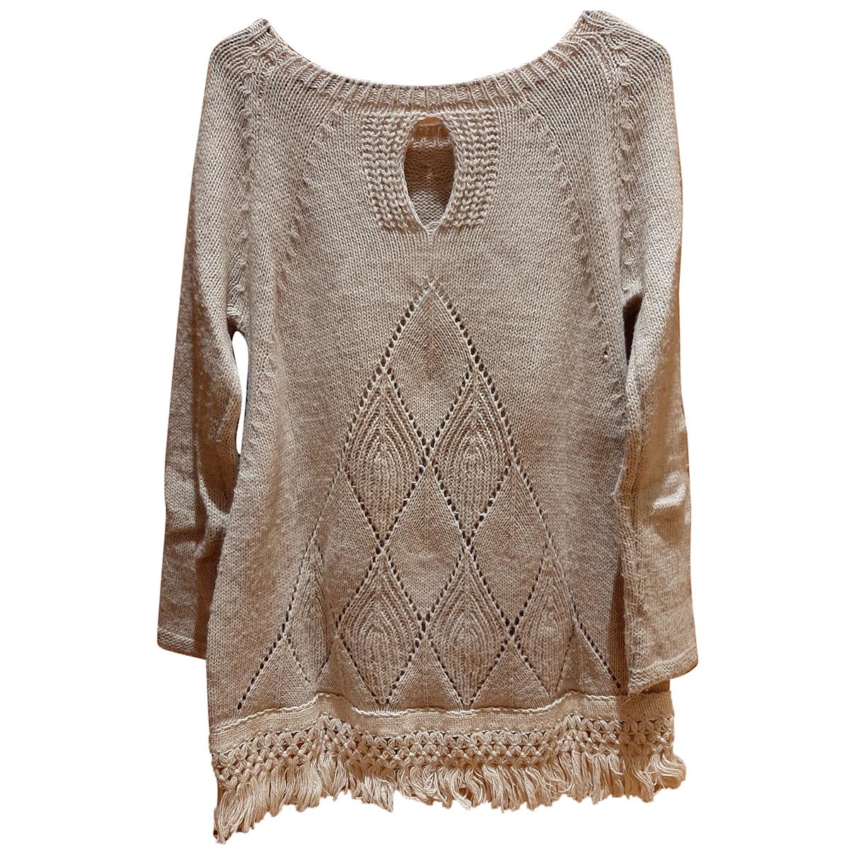 - Pull Crochet pour femme - beige