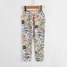 Toddler Girls Allover Print Pants