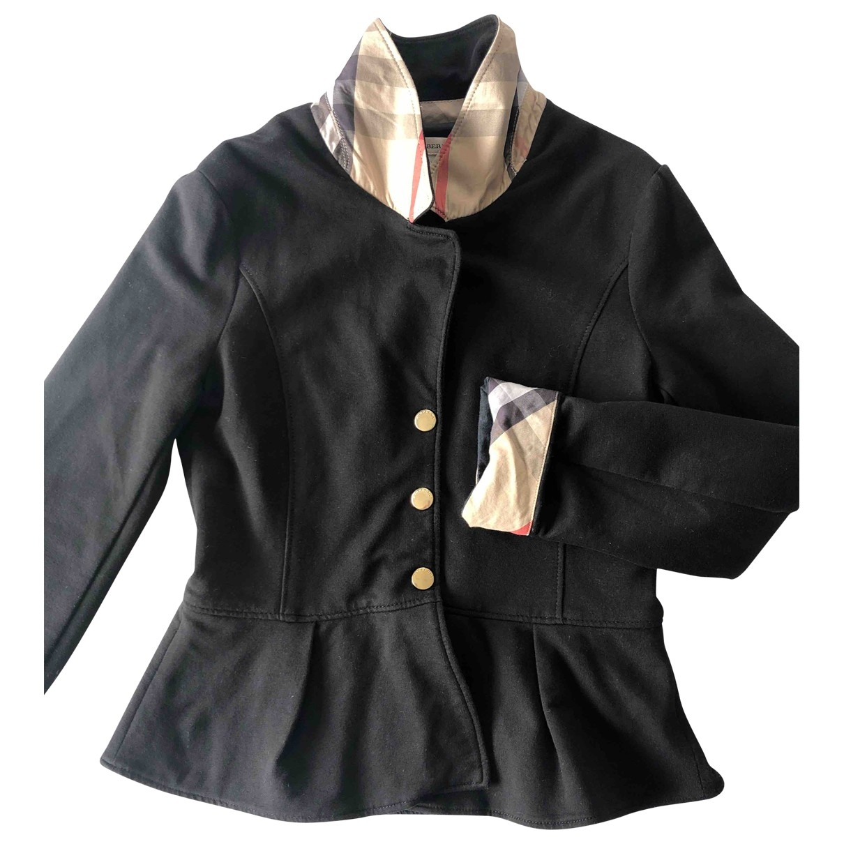 Burberry \N Black Cotton jacket & coat for Kids 10 years - up to 142cm