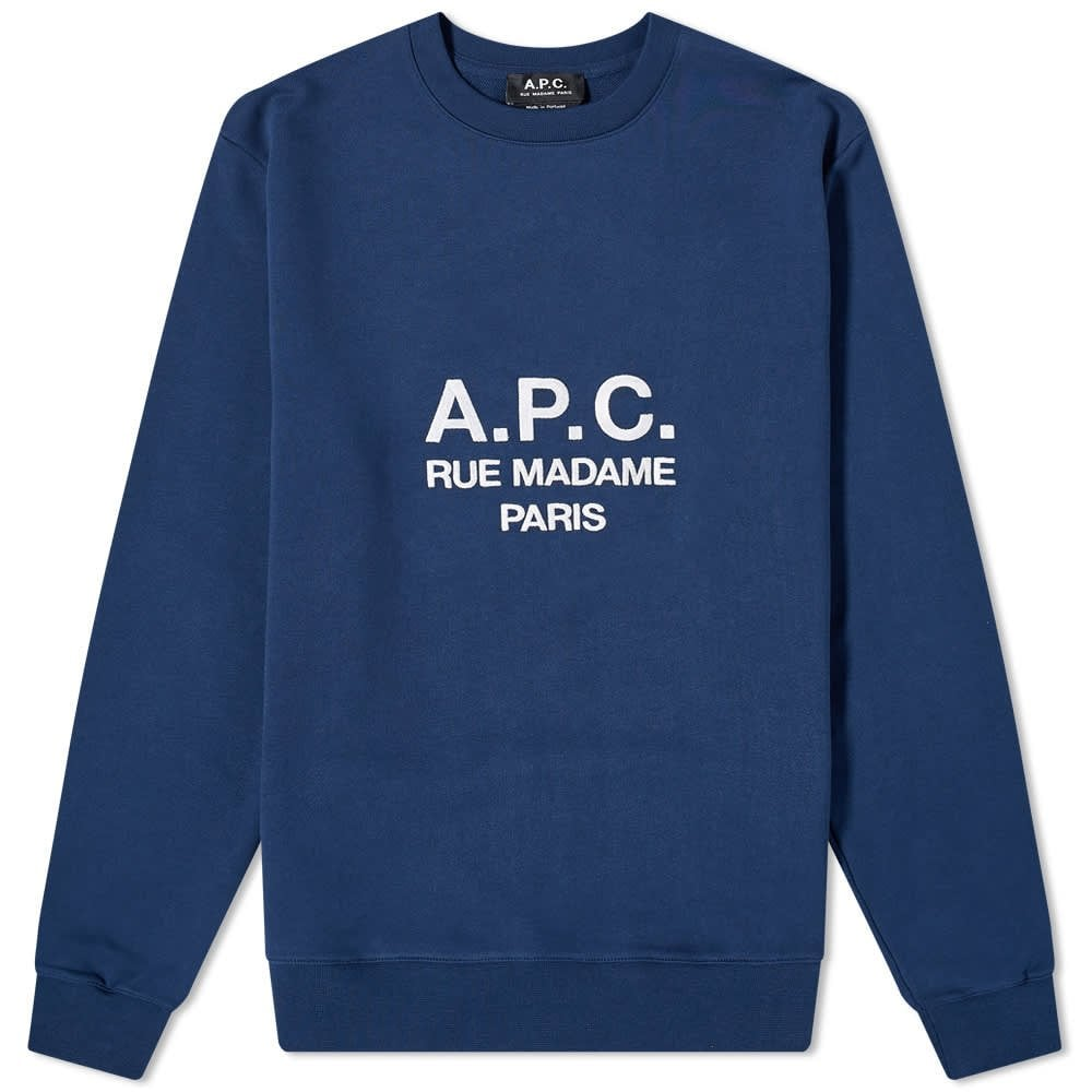 A.P.C Marine Sweatshirt Colour: NAVY, Size: EXTRA LARGE