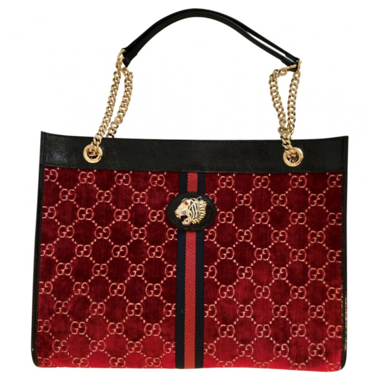 Gucci Rajah Burgundy Velvet handbag for Women \N