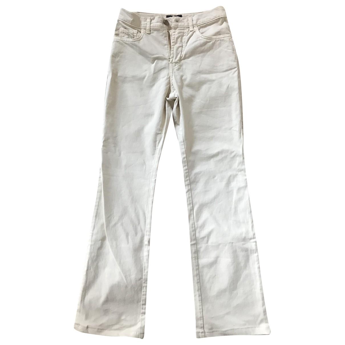 Trussardi Jeans \N Beige Cotton - elasthane Jeans for Women 26 US