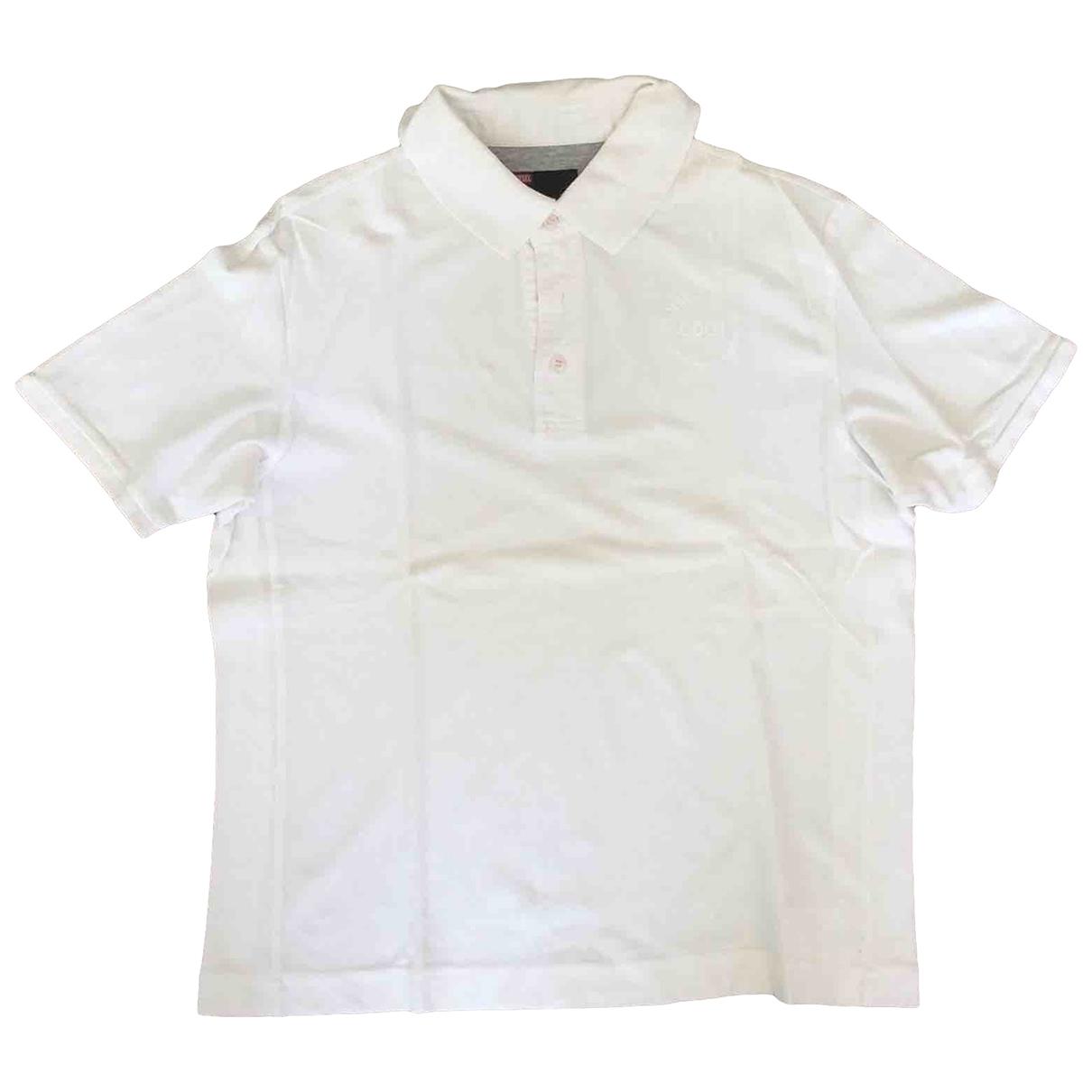 Diesel - Polos   pour homme en coton - blanc