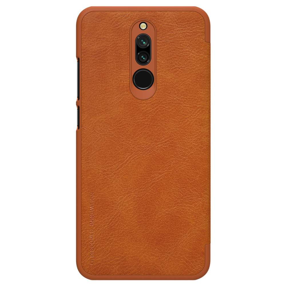 NILLKIN Protective Leather Phone Case For Xiaomi Redmi 8 Smartphone - Brown