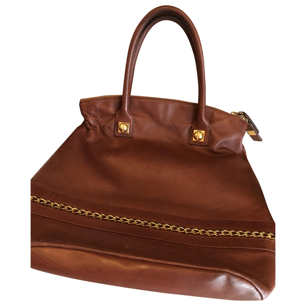 Chloe \N Handtasche in  Bordeauxrot Leder