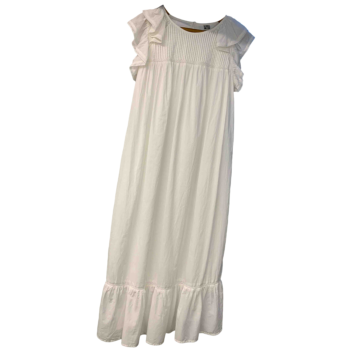 Bonton \N Kleid in  Weiss Baumwolle