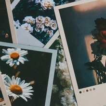 30pcs Flower Print Random Postcard