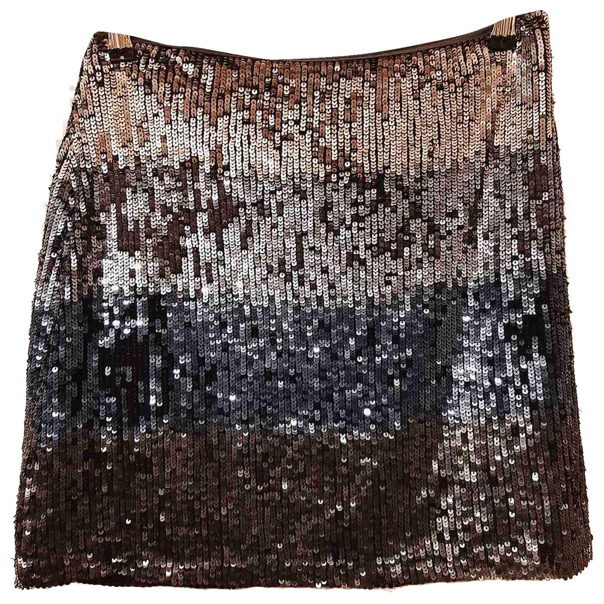 Uterque - Jupe   pour femme en a paillettes - metallise