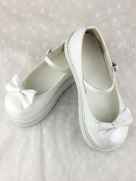 Milanoo Kawaii Lolita Shoes Detachable Ruffles Lolita Shoes