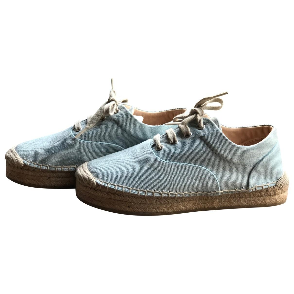 Mm6 \N Espadrilles in  Blau Denim - Jeans