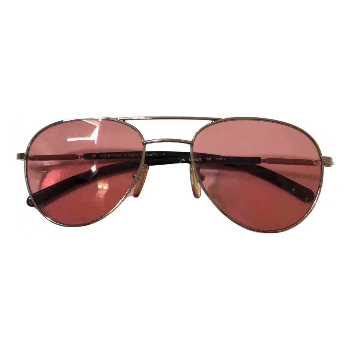 Burberry - Lunettes   pour femme en metal - rose