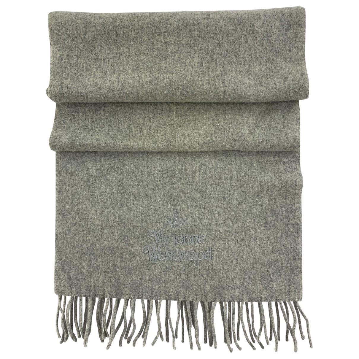 Vivienne Westwood - Foulard   pour femme en laine - gris