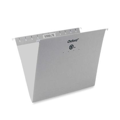 Pendaflex@ Essentials Esselte Oxford Colored Hanging File Folders - Gray ,Letter 486522