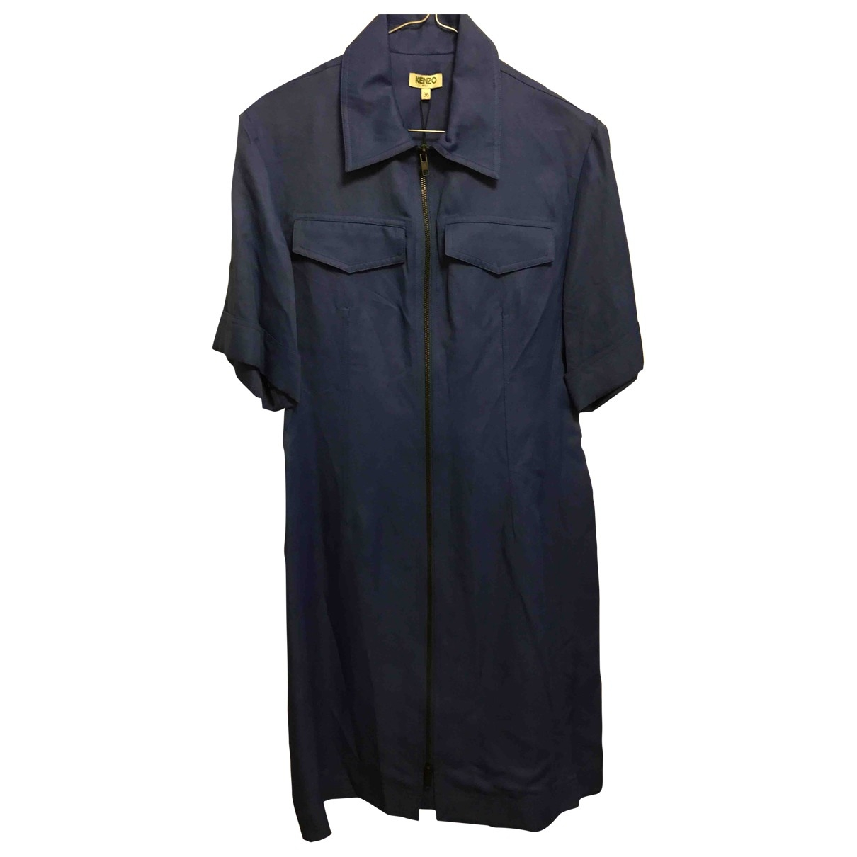Kenzo - Robe   pour femme en coton - bleu