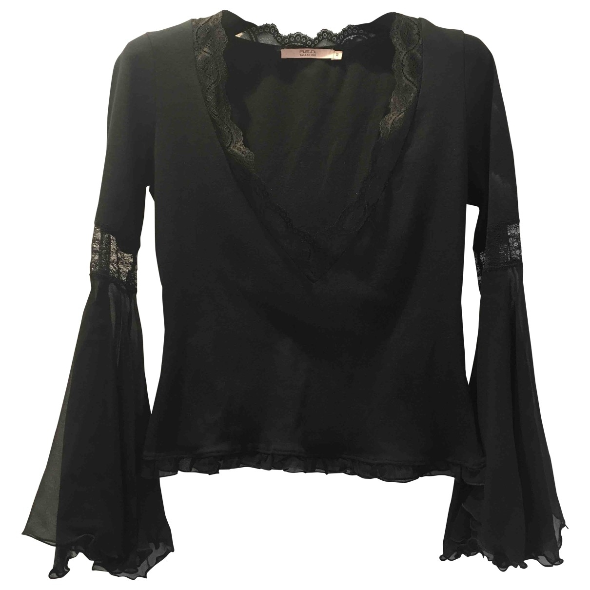 Red Valentino Garavani \N Black Cotton  top for Women 40 IT