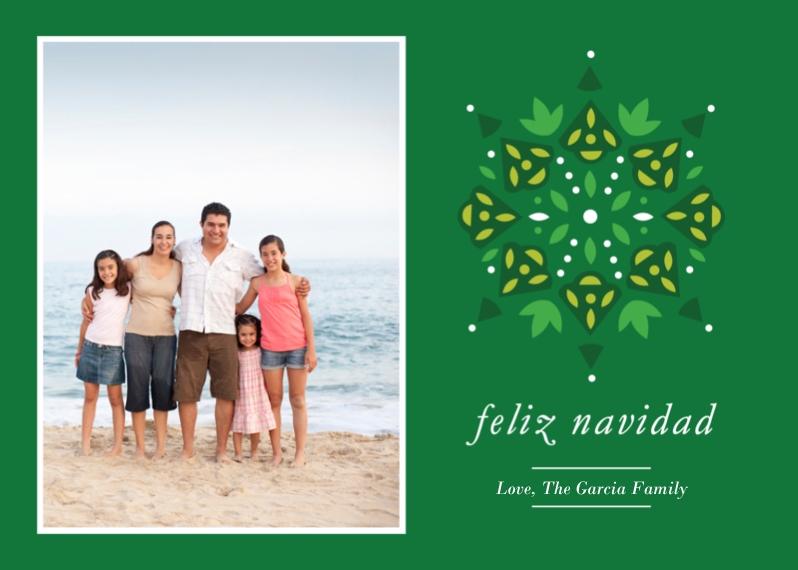 Tarjetas de Navidad 5x7 Cards, Premium Cardstock 120lb, Card & Stationery -Feliz Navidad Pattern