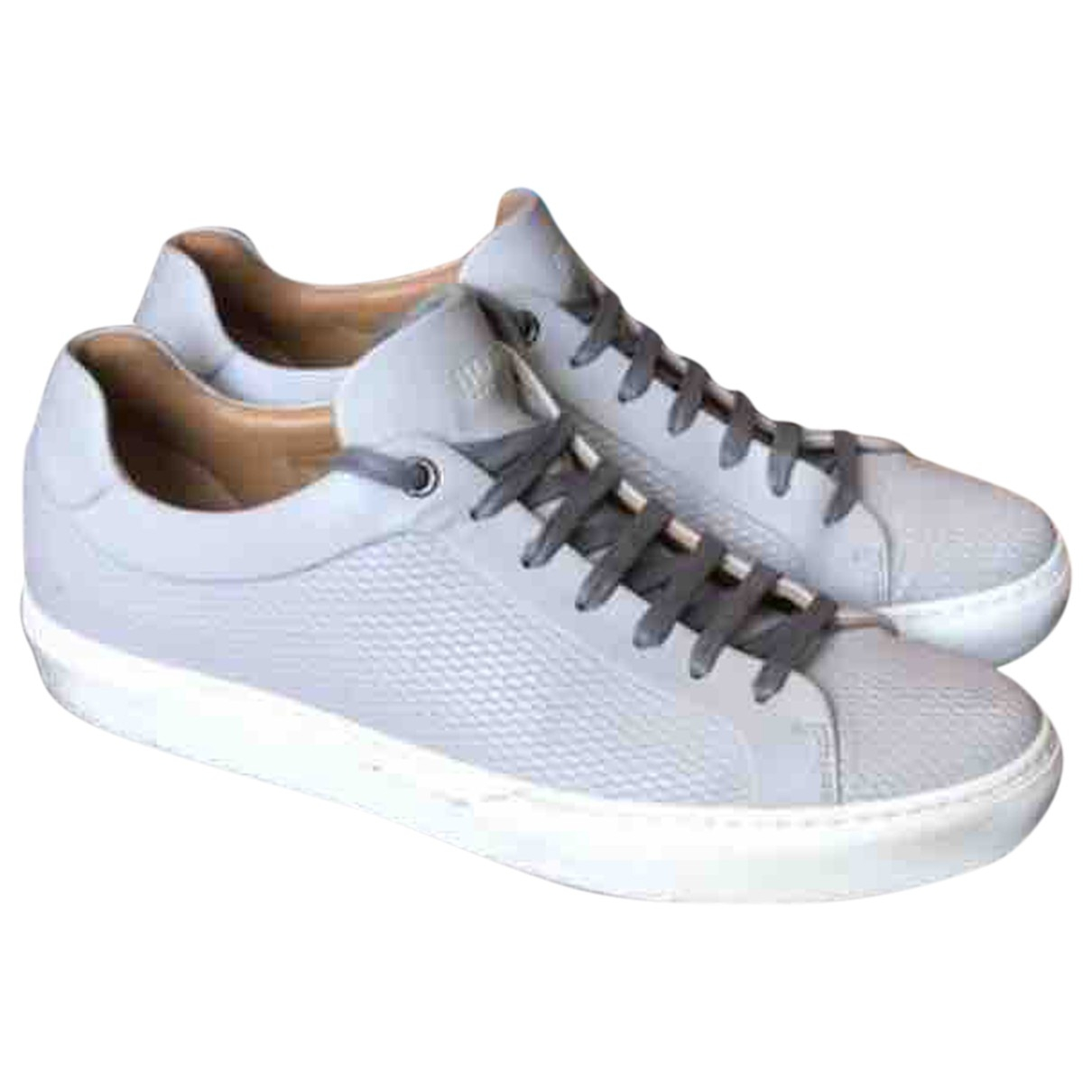 Boss \N Grey Leather Trainers for Men 42 EU