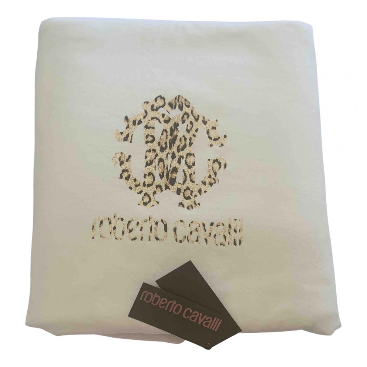 Roberto Cavalli \N White Cotton Textiles for Life & Living \N