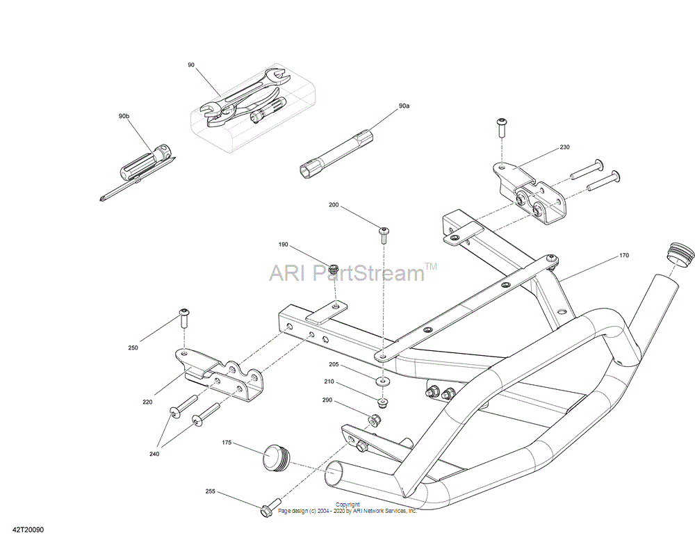 Can-AM OEM Manta Green, Rear Bumper Kit | Model Mineral Gray Satin