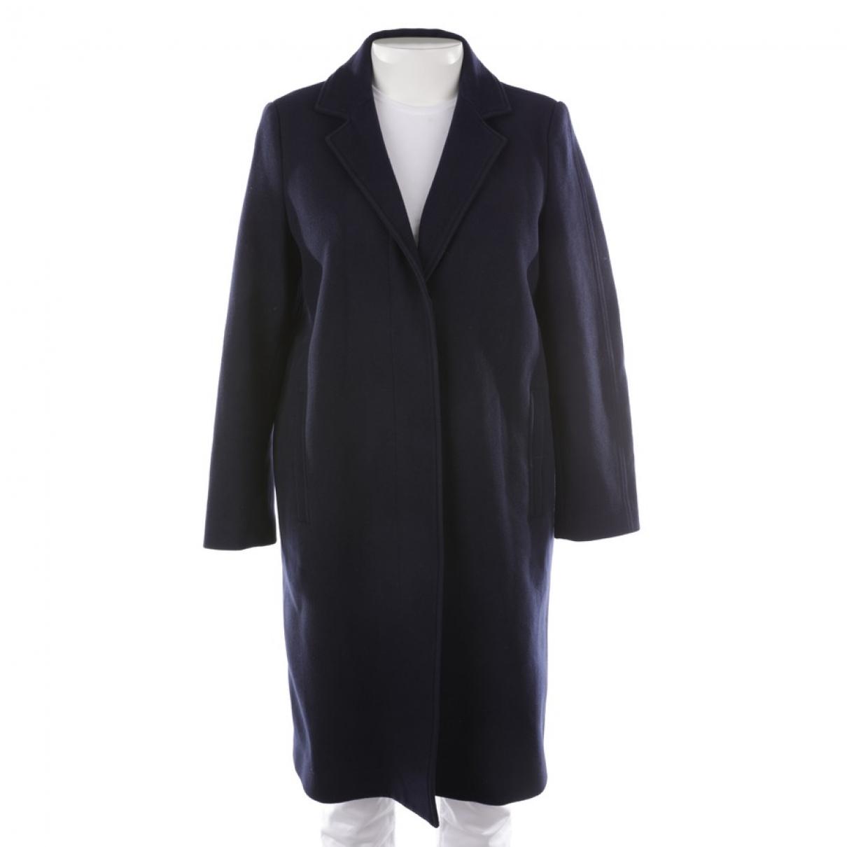 Msgm \N Blue Wool coat for Women 38 FR