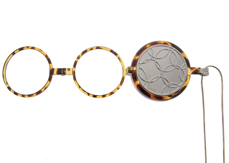 Emily Circle, Neckglasses Pendant, Reading Glasses, Convenient, Superior Chain, Discreet, Easy Care - 1.75 - Silver