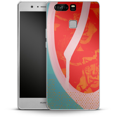 Huawei P9 Silikon Handyhuelle - Saturated Wall von Brent Williams