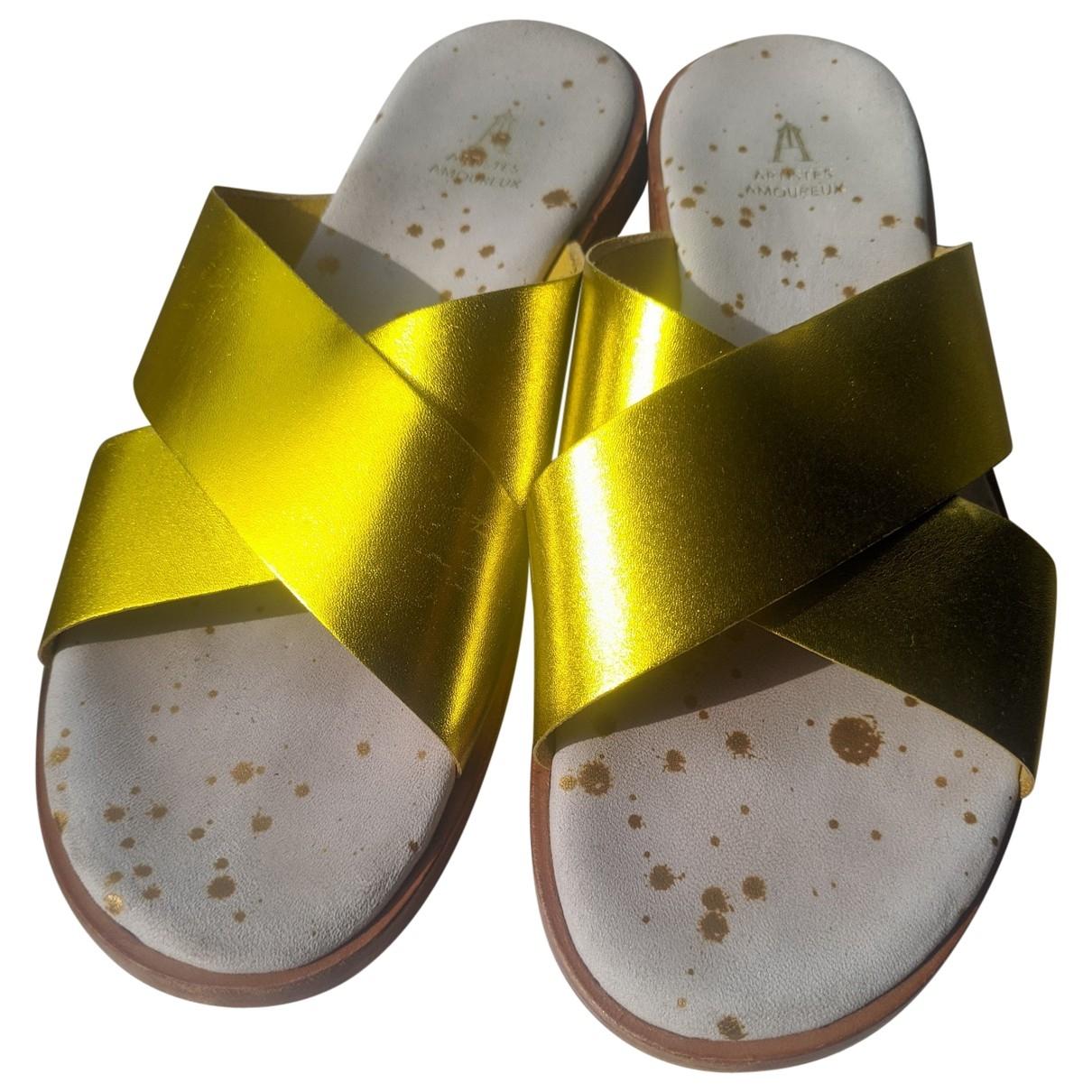 Craie \N Sandalen in  Gelb Leder