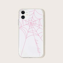 Pink Spider Web iPhone Case