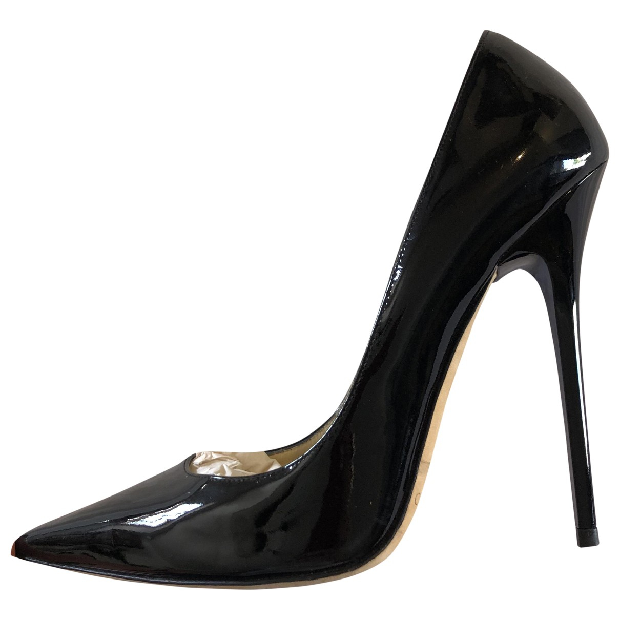 Jimmy Choo \N Black Patent leather Heels for Women 37.5 EU